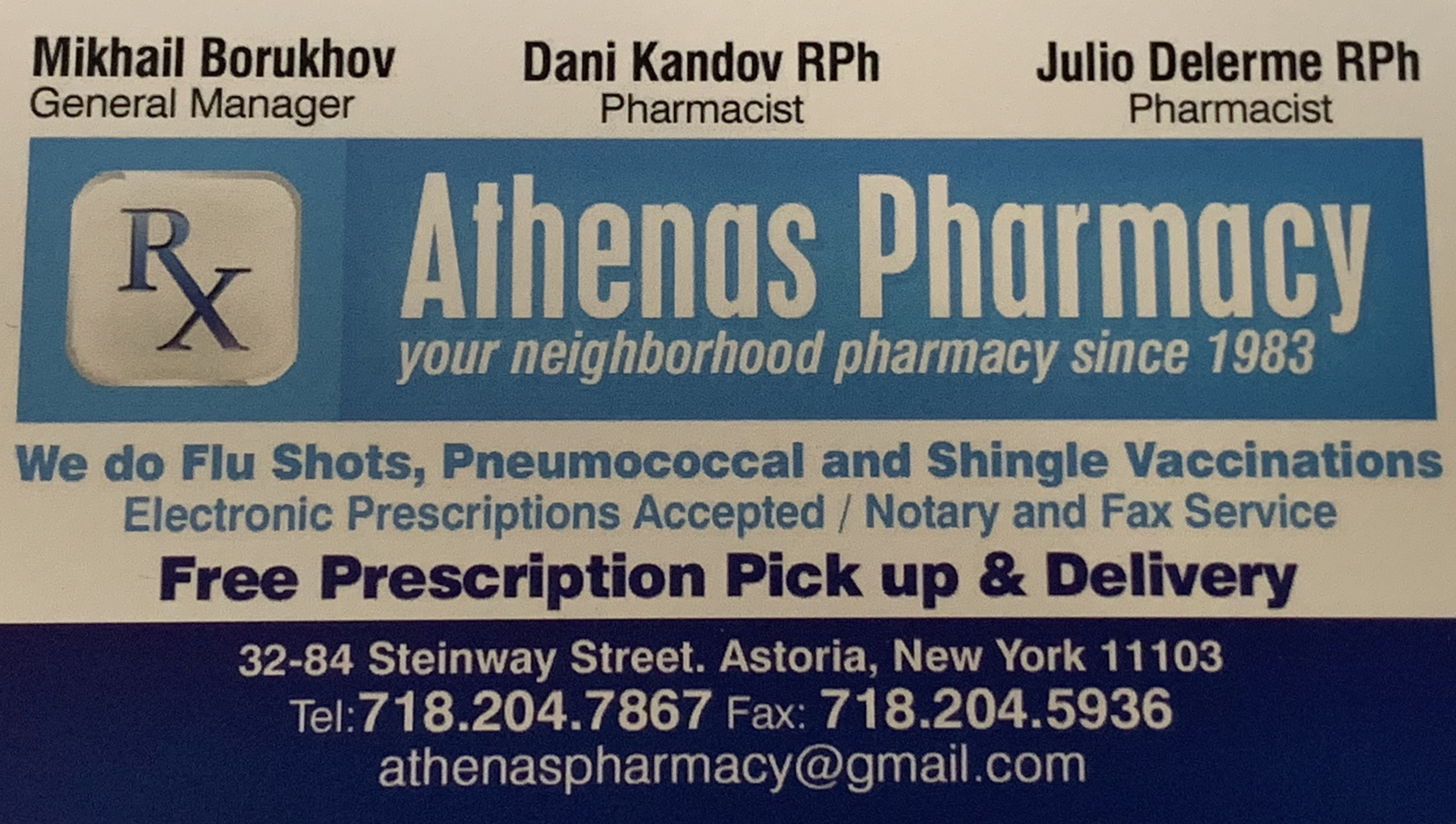 Athenas Pharmacy - Home